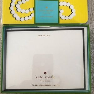 kate spade Office - Kate Spade notecards and spiral notebook NWT